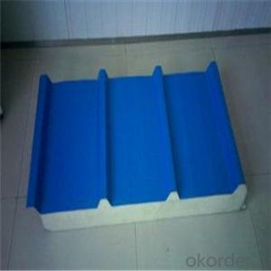Rockwool/Glasswool Sandwich Panel with PU Sealing, Construction Wall Panels