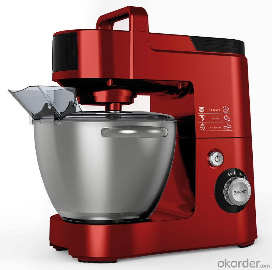 Electric Heavy Stand Mixer Multi-Function  Full Aluminum Body Red Color