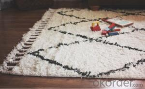Fashion high quality OEM good modern shaggy hand tuft carpet