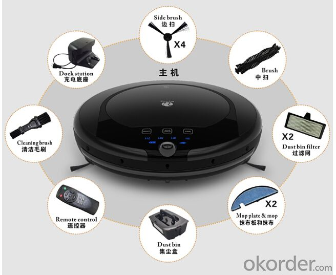 Robot vacuun intelligent  cleaner auto charge with UV