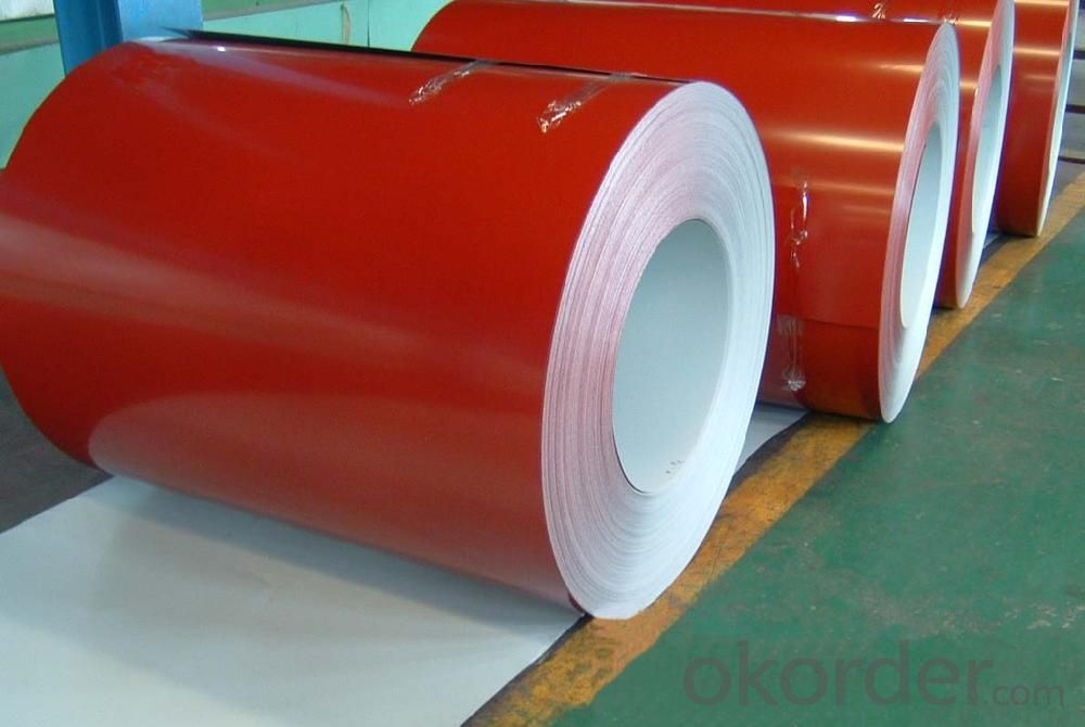 Pre-Painted Galvanized/Aluzinc Steel Sheet in Coils in Red Color