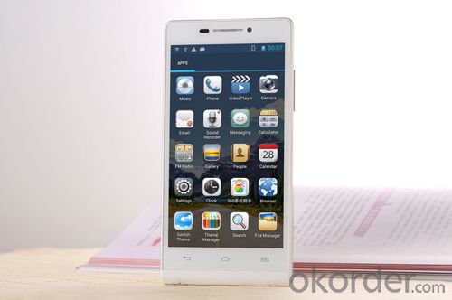 4.5 inch 854*480 MTK6572 Dual Core 3G Version Mobile Phone