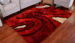 Customized design polyester shaggy carpet