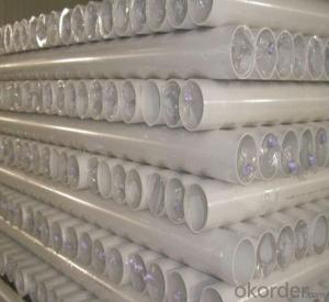 PVC Pipe  1.25MPa Wall thickness:1.6mm-26.7mm Specification: 16-630mm Length: 5.8/11.8M Standard: GB