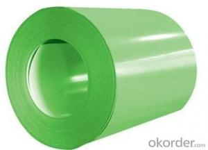 PPGI Color Coated Galvanized Steel Coil in Green Color