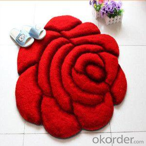 Polyester Printing Pattern Carpet Rug,Flower Shape Carpet Wholesale