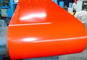 Pre-Painted Galvanized/Aluzinc Steel Sheet with Good Price in Coils in Orange Color