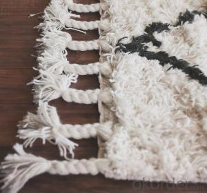 Polyester Shaggy Carpet/ Modern shaggy carpet mat