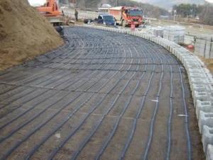 CE Fiberglass Geogrid  Asphalt Reinforcement