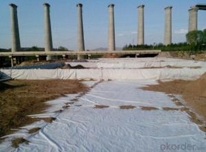 Polyester and PP Short Nonwoven Geotextile White Kind