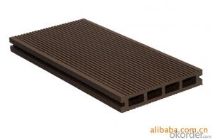 Solid and Grooved Waterproof Garden WPC Deck Tile