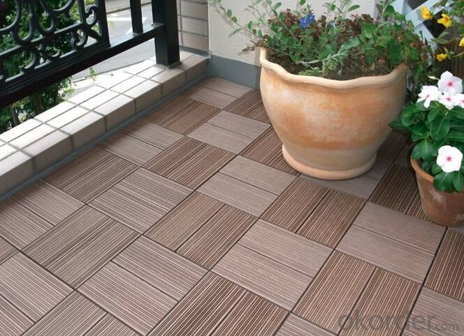 WPC Wood Plastic Composite Natural Colour Slip Resistance to Water Anti