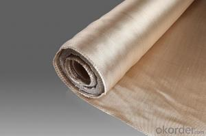 Golden Vermiculite Coated Fiberglass Fabric Cloth