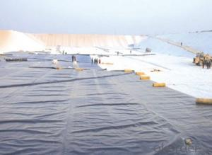 HDPE Point Textured Geomembrane For river bank tunnel canel projects