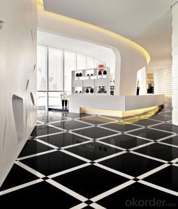 Polished Porcelain Tile Super Black Stone Serie CMAX6800