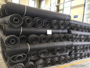 Biaxial Water-soluble PVC Coated  Polyester Geogrid Big Mesh