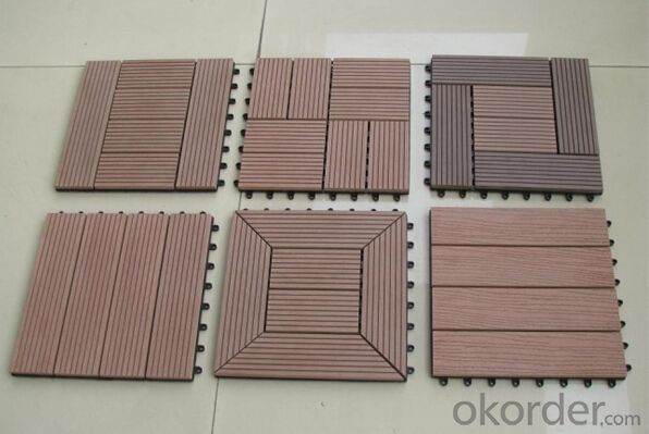 WPC Wood Plastic Composite Natural Colour Slip Resistance to Water Anti Moisture