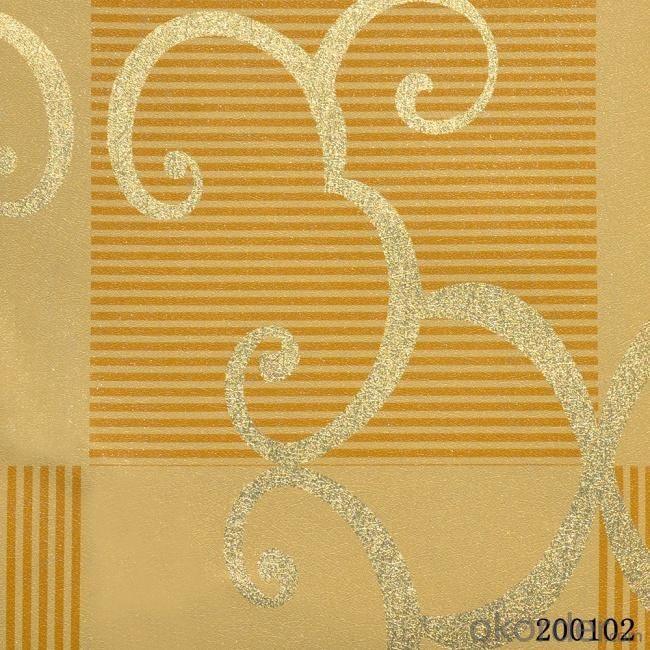 Metallic Wallpaper Living Room Decoration Simple Design Wallpaper with Low Price