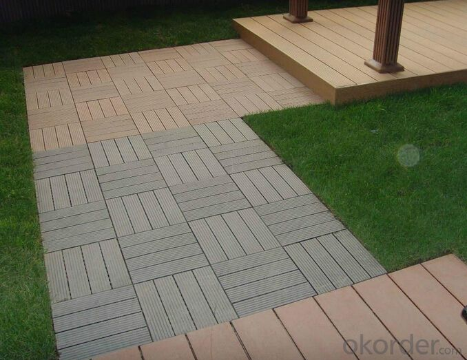 WPC Wood Plastic Composite Natural Colour Slip Resistance to Water  Rot Insect