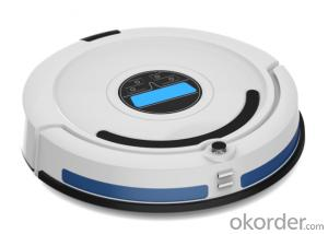 Robot Vacuum Cleaner with Remote Control and LED Screen CNRB707E