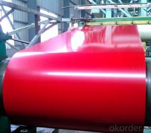 Pre-Painted Galvanized/Aluzinc Steel Sheet in Coils Red Color in  Red color