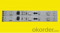LED Rigid Bar PCBA  with 15full color exposed light Rigid Bar