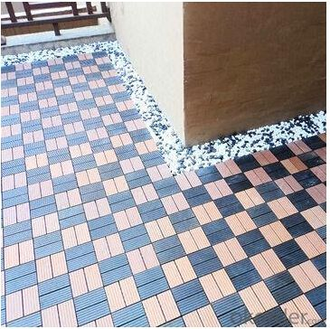 WPC Wood Plastic Composite Natural Colour Slip Resistance to Water and Rot