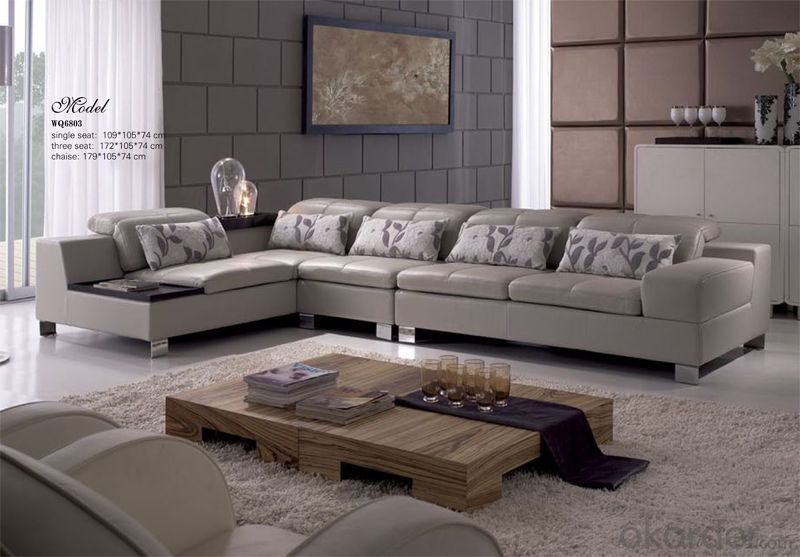 Leather Sofa Made of Chinese Top Leather