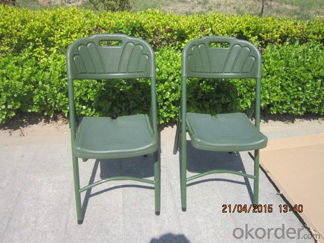Outdoor Chair, by Stainless Steel Legs and Plastic Seat