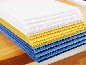 3mm Corrugated package sheet made of Polypropylene