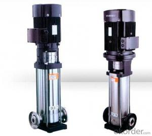 High pressure water pump, multistage vertical pump with stainless steel