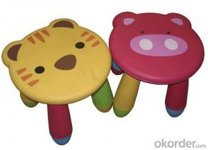 PP Plastic Chair with Cartoon Design and Removable Legs
