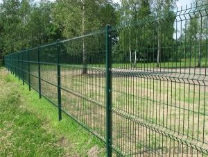 Galvanized and powder coated welded wire mesh panel fence