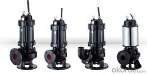 WQ series Submersible Centrifugal Sewage Pump with high performacne