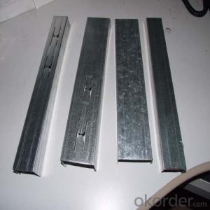 Drywall stud & track  C   Channel Metal Stud Size