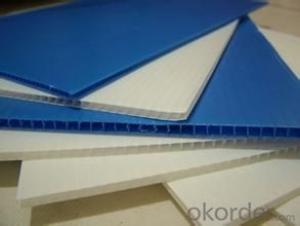 PP Fluted sheet with Best Price for 4'x8' Size