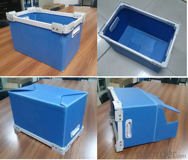 Corrugated Polypropylene Sheet used for recycled delivery box