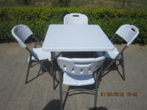 HDPE Plastic Outdoor Folding Table, Adjustable Height and Multi-function