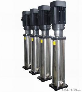 High pressure water pumps, multistage vertical pumps with stainless steel
