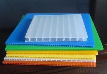 Colored PP Hollow Corrugated Sheet with 1.22*2.44meters