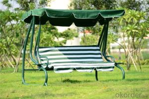 3 Seater Swing for Garden Patio with Waterproof Cushion CMAX-SC004LJY