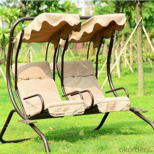 Lover Seat Patio Swing Chair with Waterproof Fabric CMAX-SC002LJY