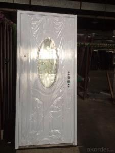 Intime Steel Security Glass Exterior Metal Safety Door