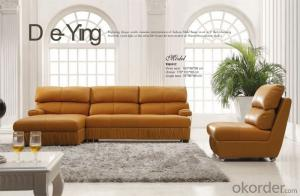 Golden Quality Leather Sofa with Modern Style