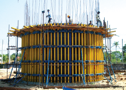 Timber Beam Formwork with Special System Tools