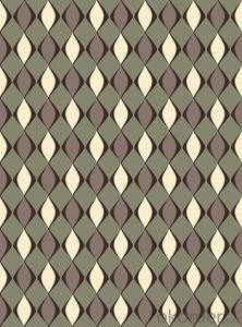 Nonwoven Wallpaper  Velvet Flocking Wallpaper Enviromental Wallpaper