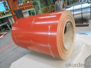 Pre-Painted Galvanized  Steel Coil  with Red Color