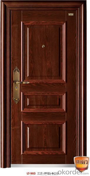 Security Door inside open door single leaf steel door design