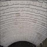 Módulo plegado de fibra cerámica de alta pureza.