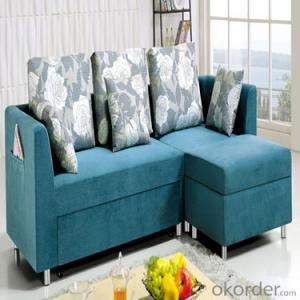 Sofa Sleeper with Blue or Grey Fabric Cover